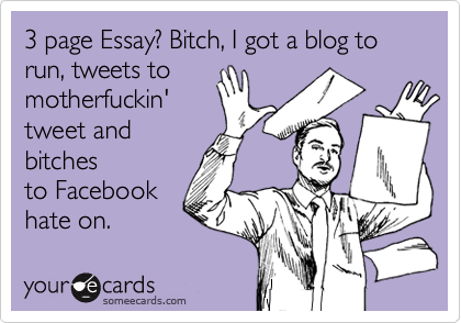 The 5 Minute Guide to Writing an Essay ECard