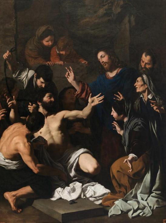 Pietro Novelli - The Raising of Lazarus c1640