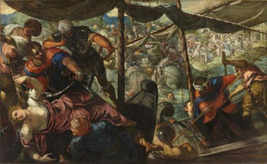 Jacoppo Tintoretto - The Abduction of Helen c 1578
