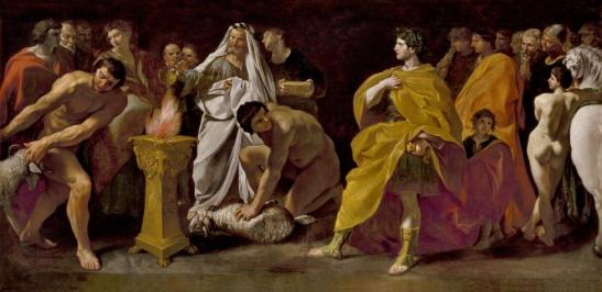 Giovanni Lanfranco - An augur sacrificing for a Roman emperor c1635